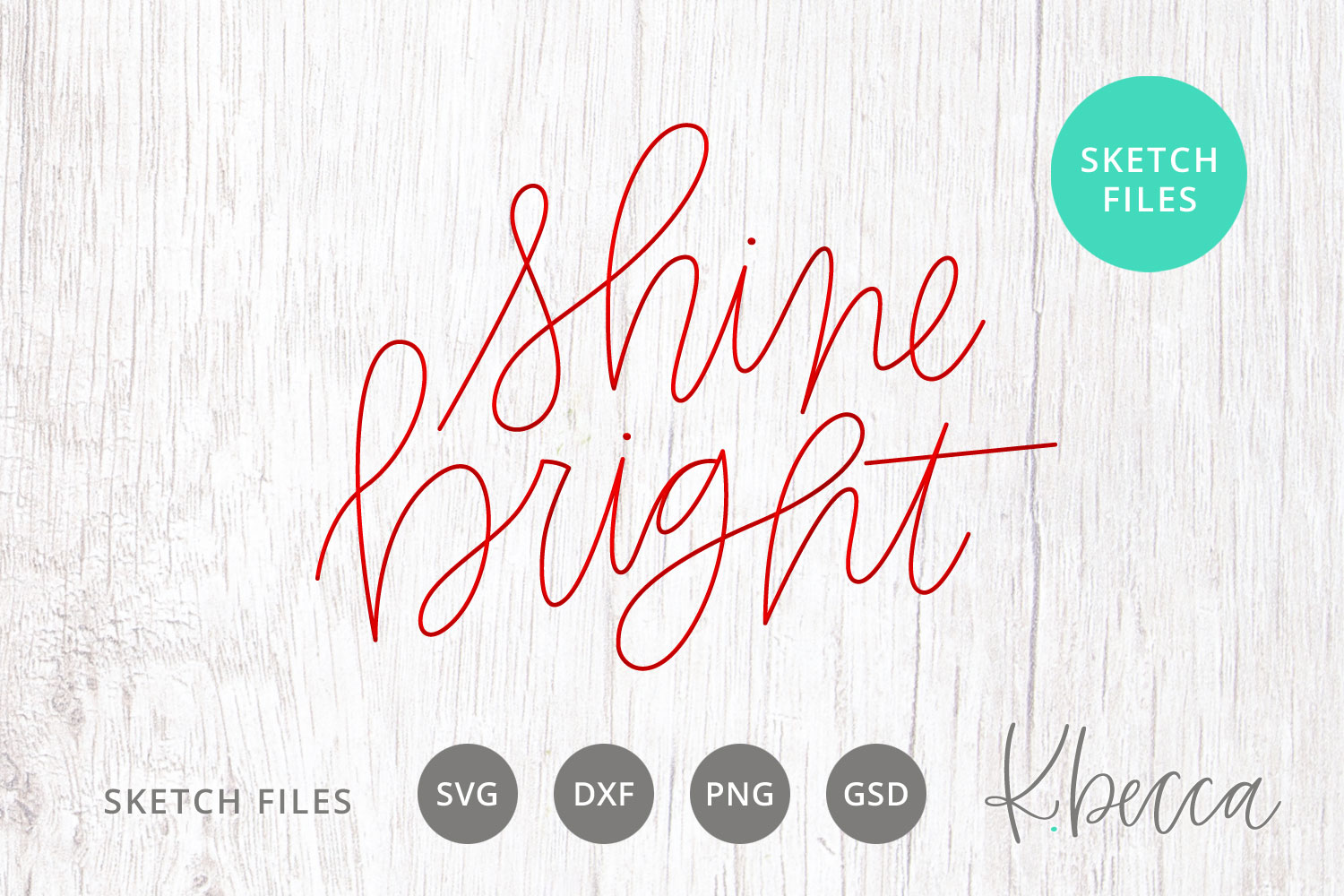Foil Quill Sketch Shine Bright SVG example image 1