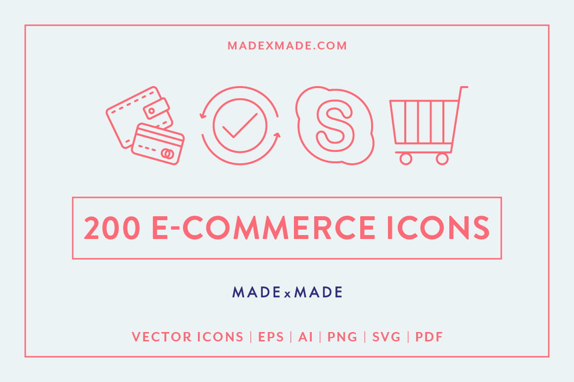Line Icons - E-Commerce example image 1