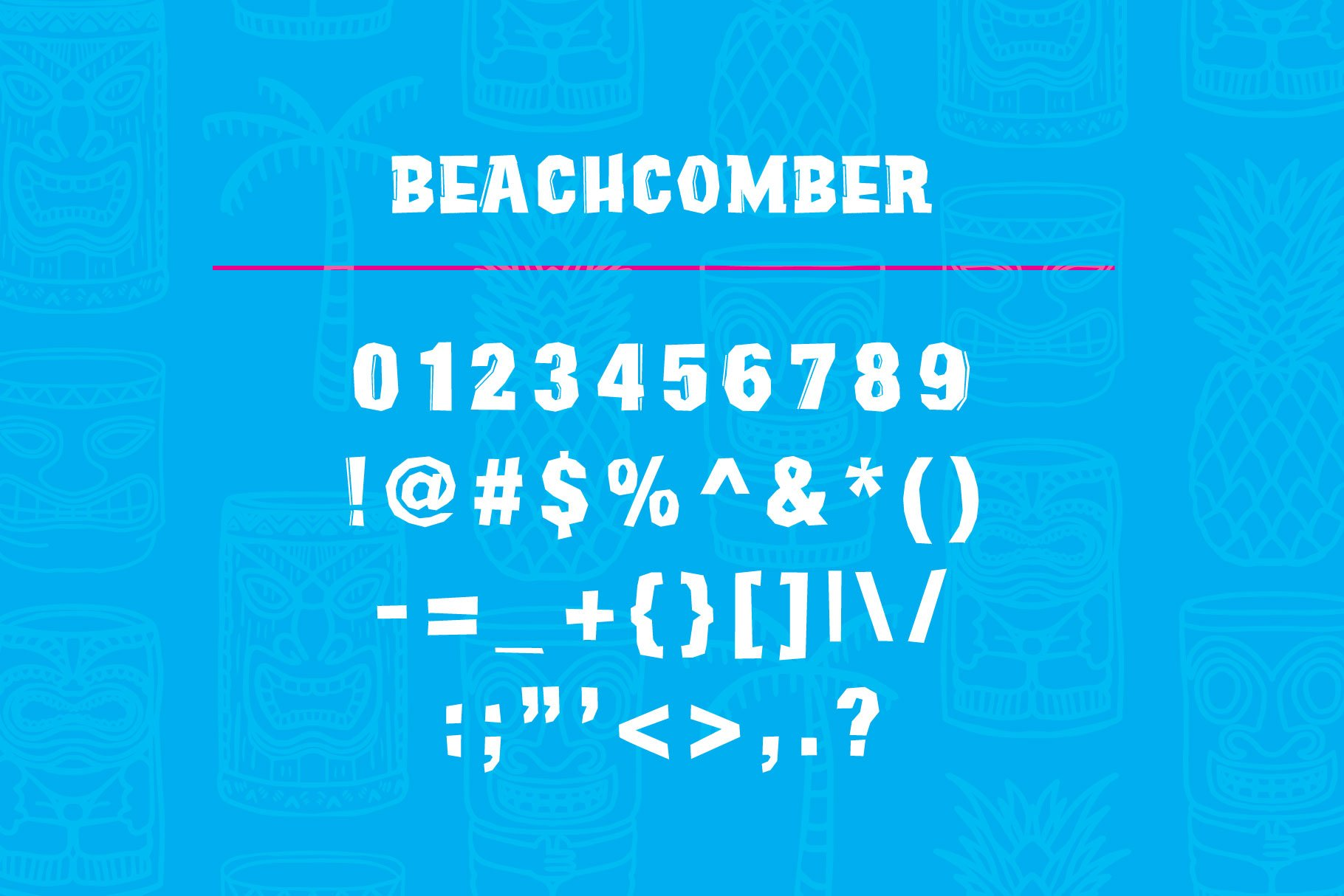 Beachcomber Font & Illustrations example image 5