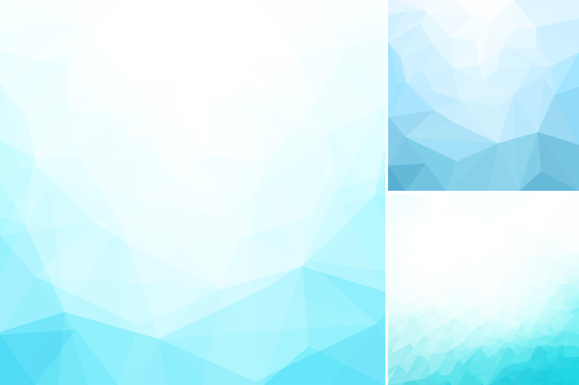 Blue abstract geometric backgrounds. example image 2