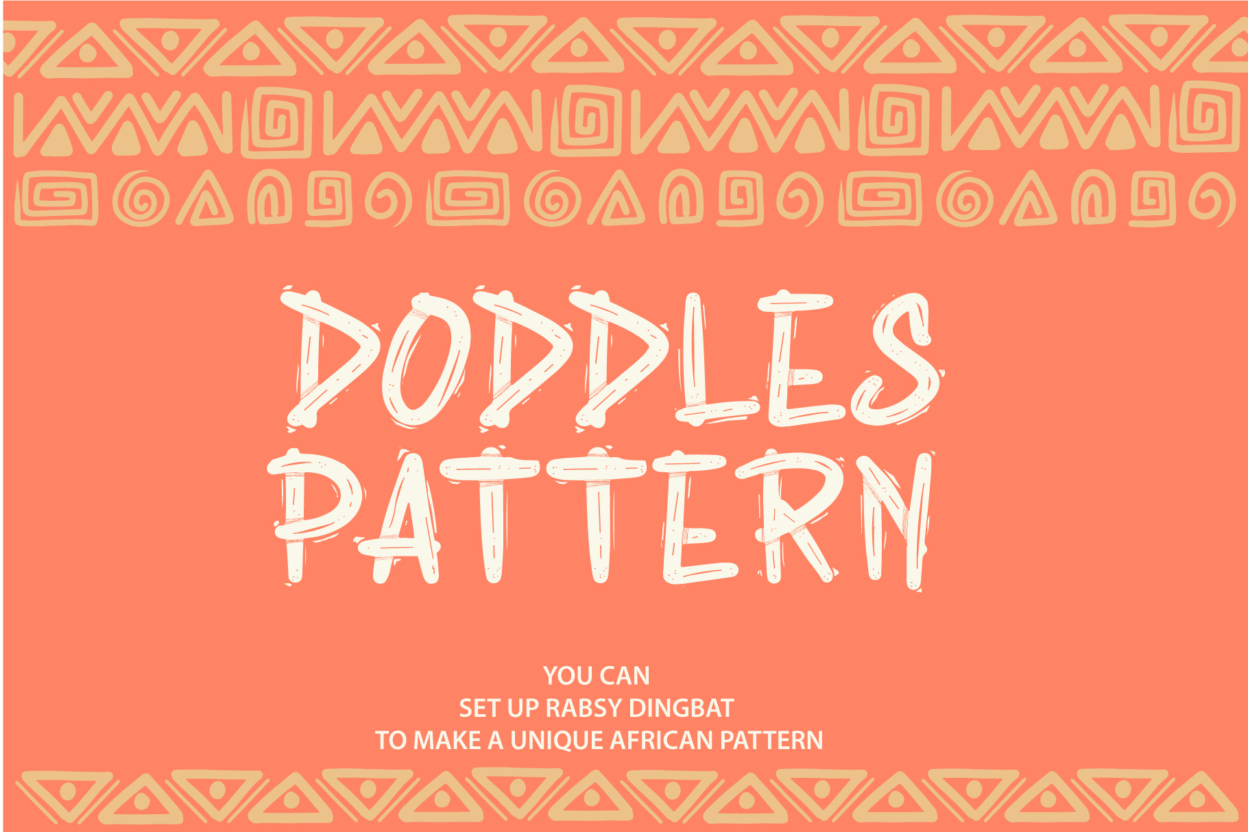 Rabsy African pattern font example image 2