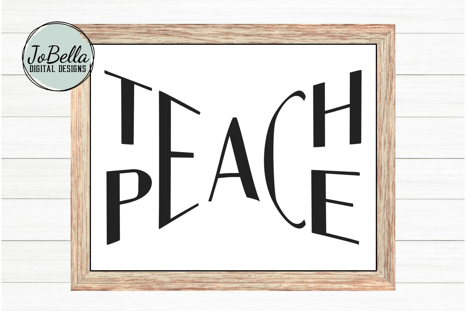 Teach Peace SVG and Printable example image 2