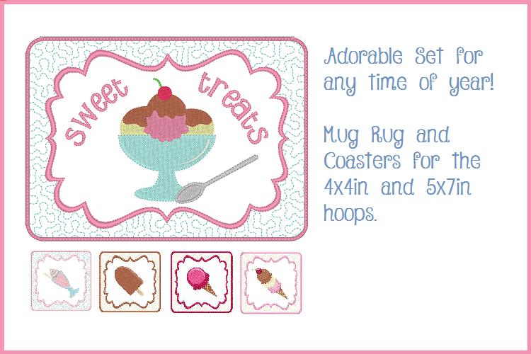 Sweet Treats Mug Mat and Coaster Set example image 1