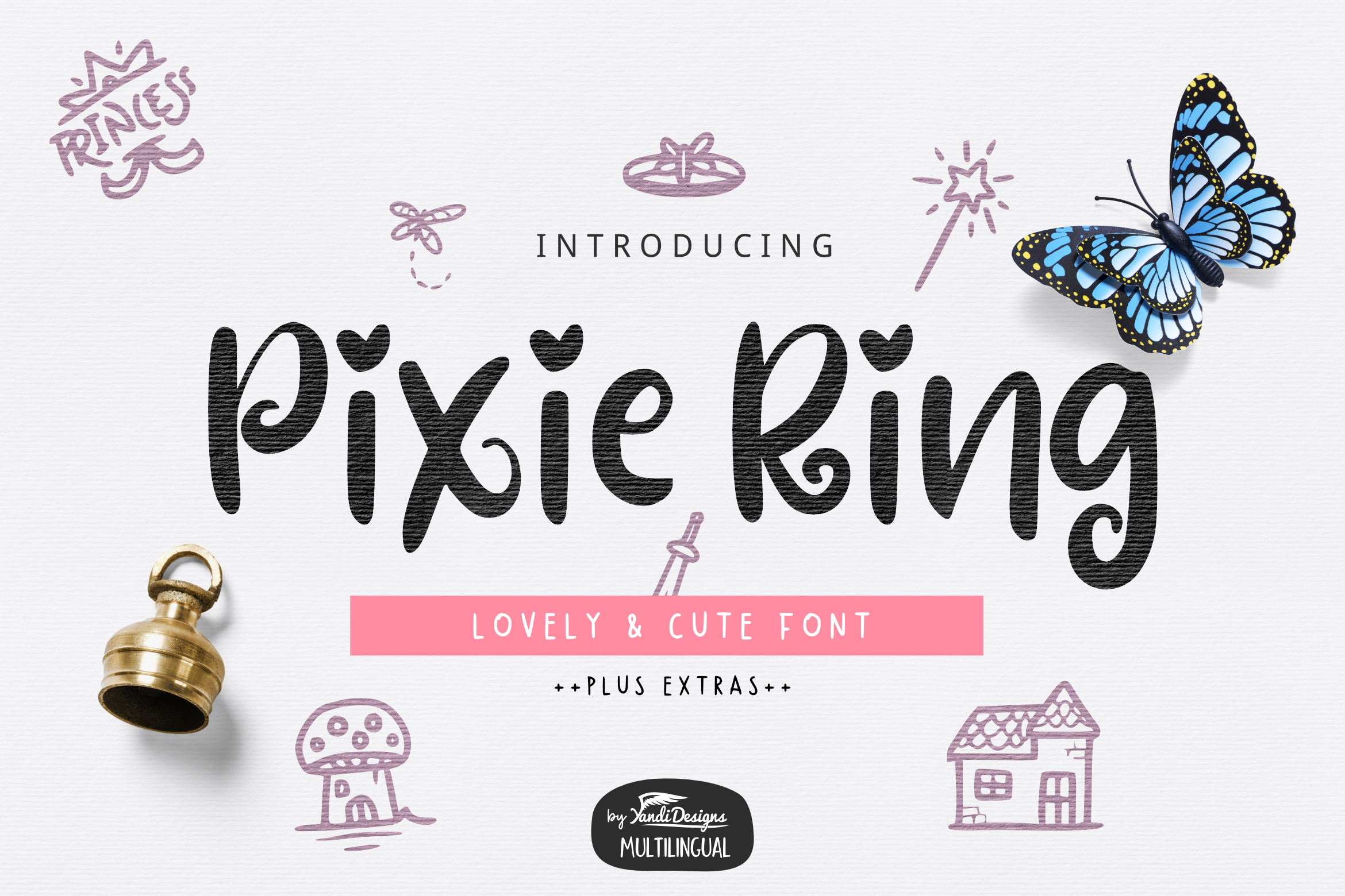 Pixie Ring Font example image 1