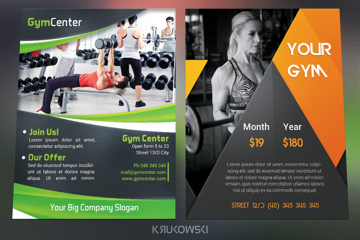 Gym Fitness Flyers Bundle