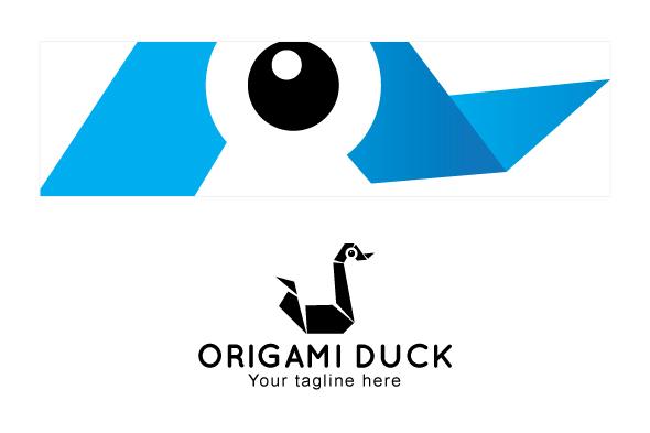 Origami Duck - Creative Bird Stock Logo Template example image 3