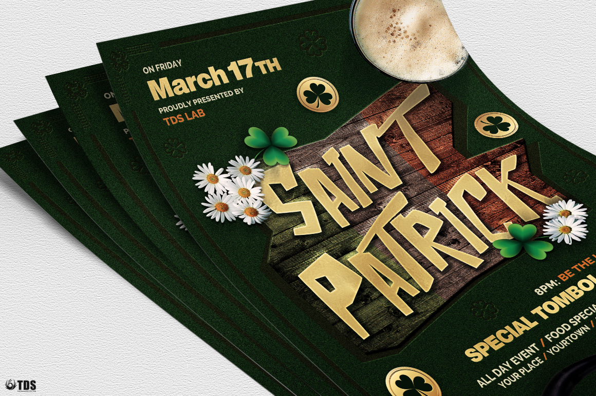 Saint Patricks Day Flyer Template V6 example image 5