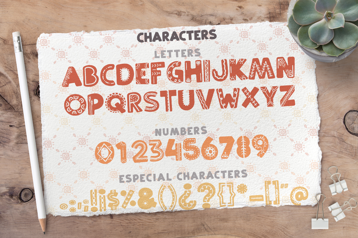 Ethnic love font BUNDLE 40 ELEMENTS example image 2