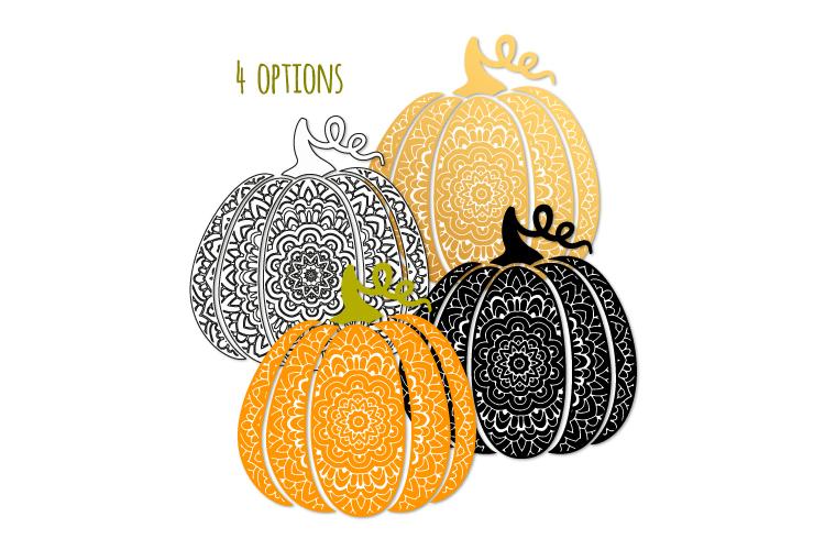 Scroll pumpkin svg. Bohemian fancy pumpkin example image 2