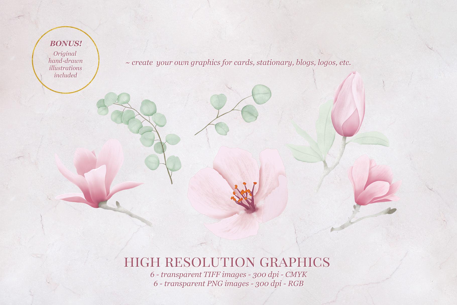 Magnolia & Eucalyptus Wedding Suite example image 5