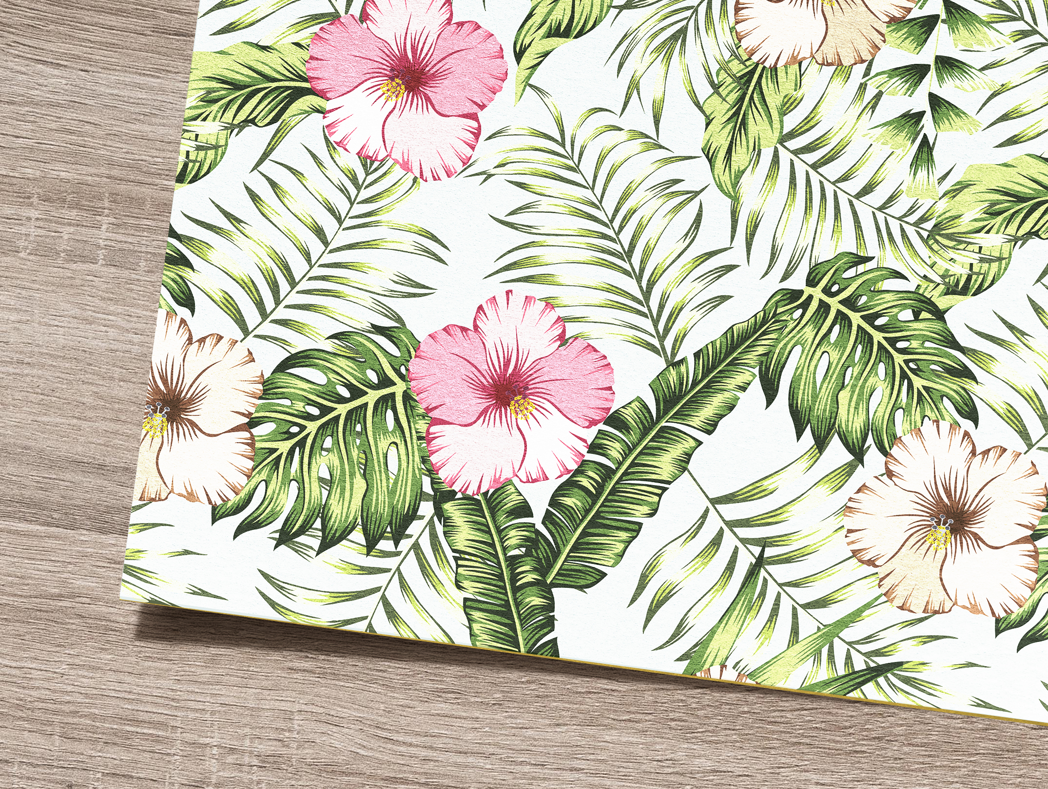 Tropical flowers and leaves pattern. Seamless design. example image 3