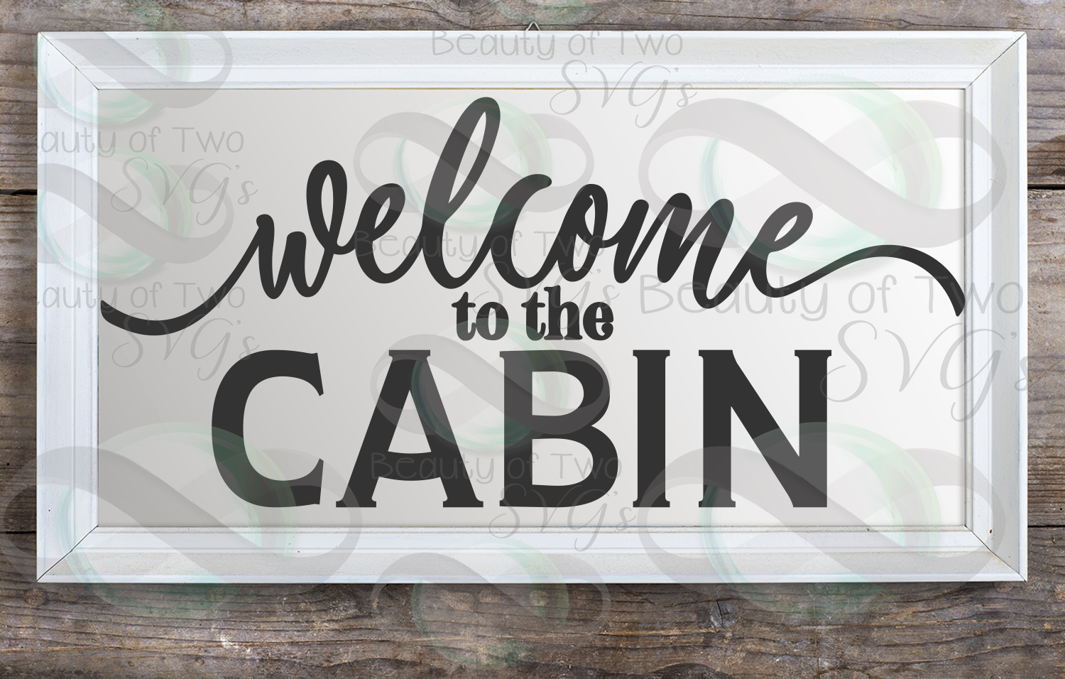 Welcome to the cabin svg, Cabin svg, Rustic cabin sign svg example image 2