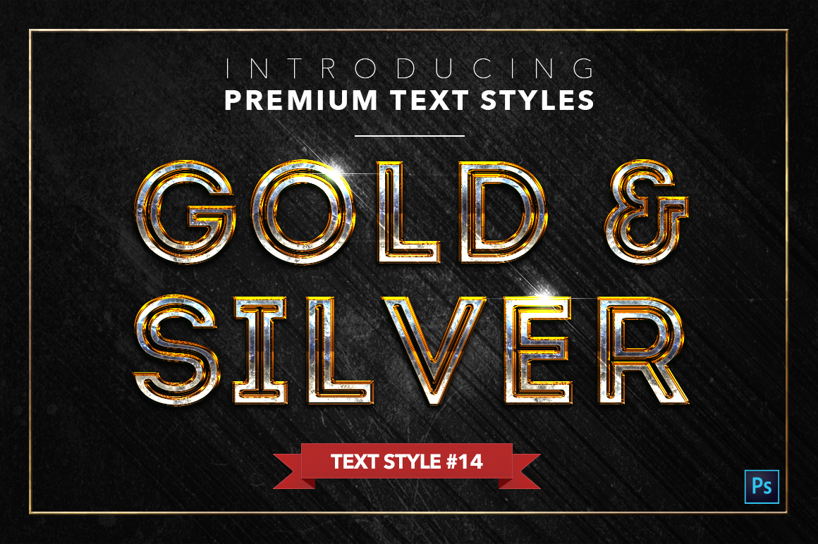 Gold & Silver #2 - 20 Text Styles example image 11