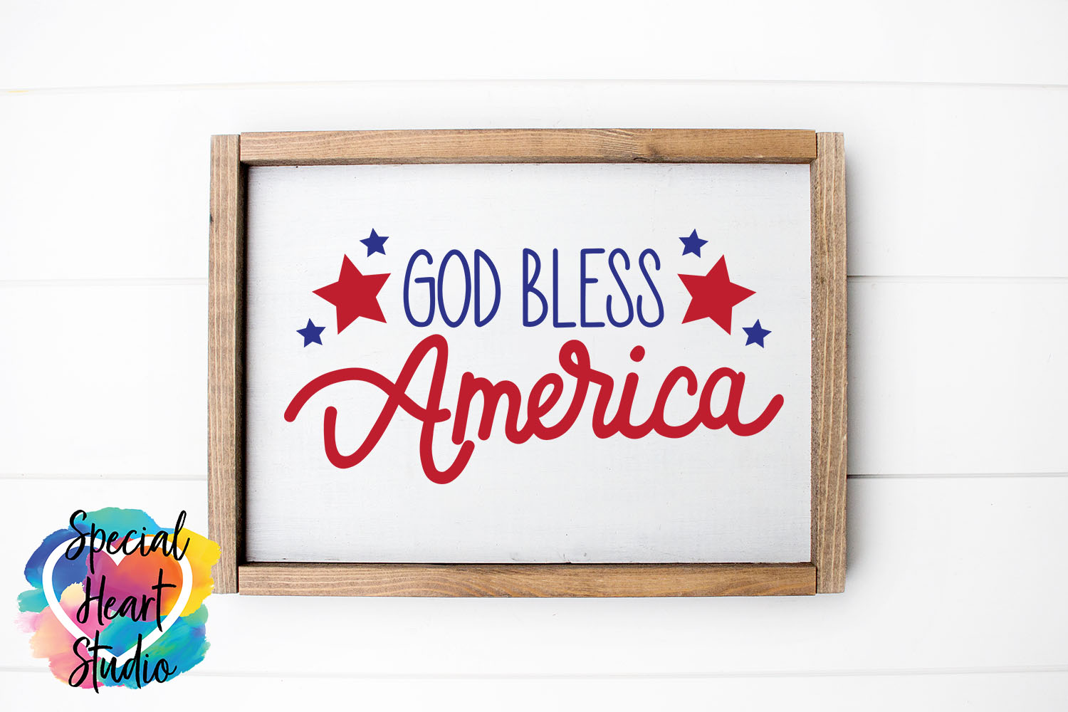 God Bless America - A hand lettered patriotic SVG example image 2