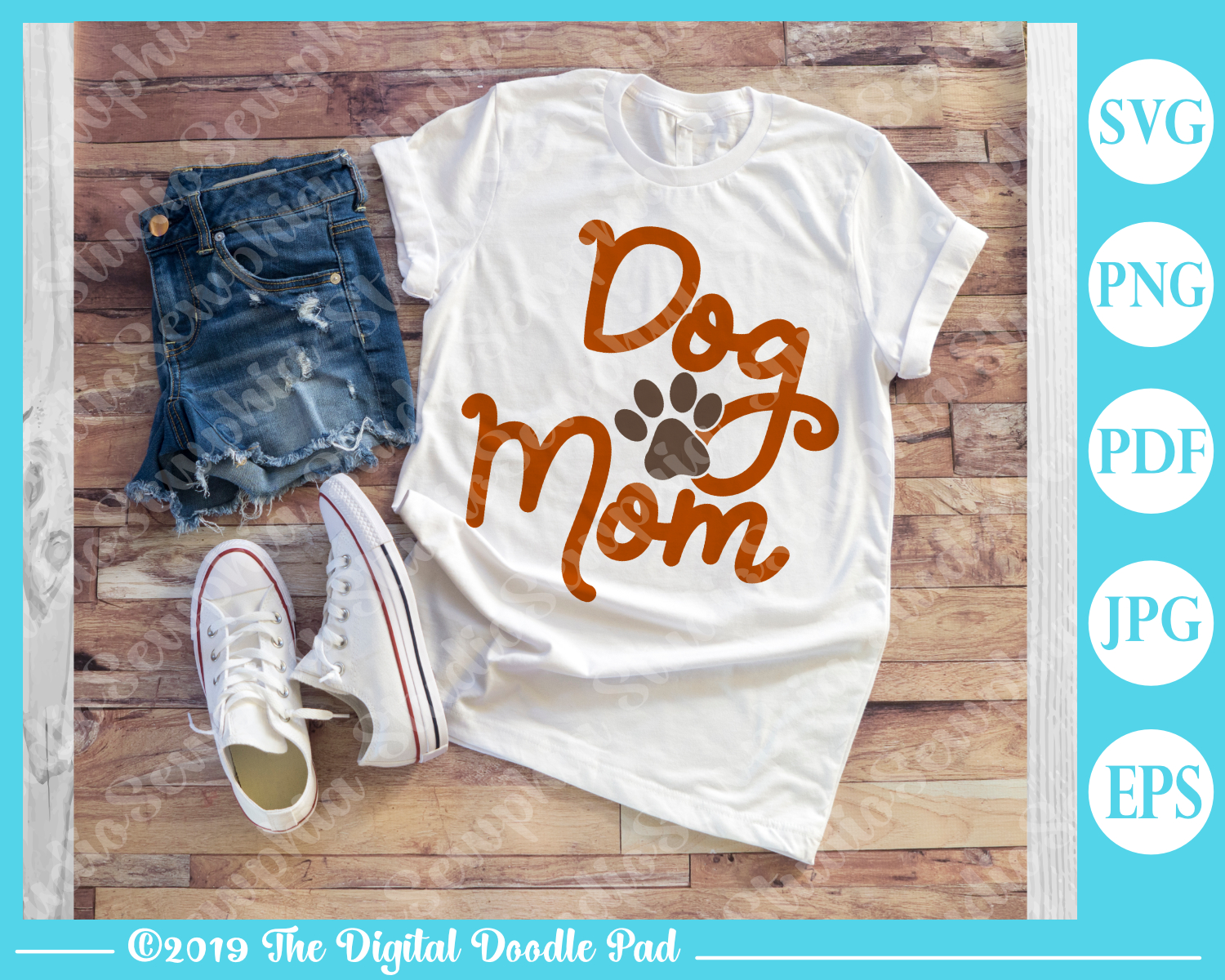 Dog Mom by Digital Doodle Pad example image 2