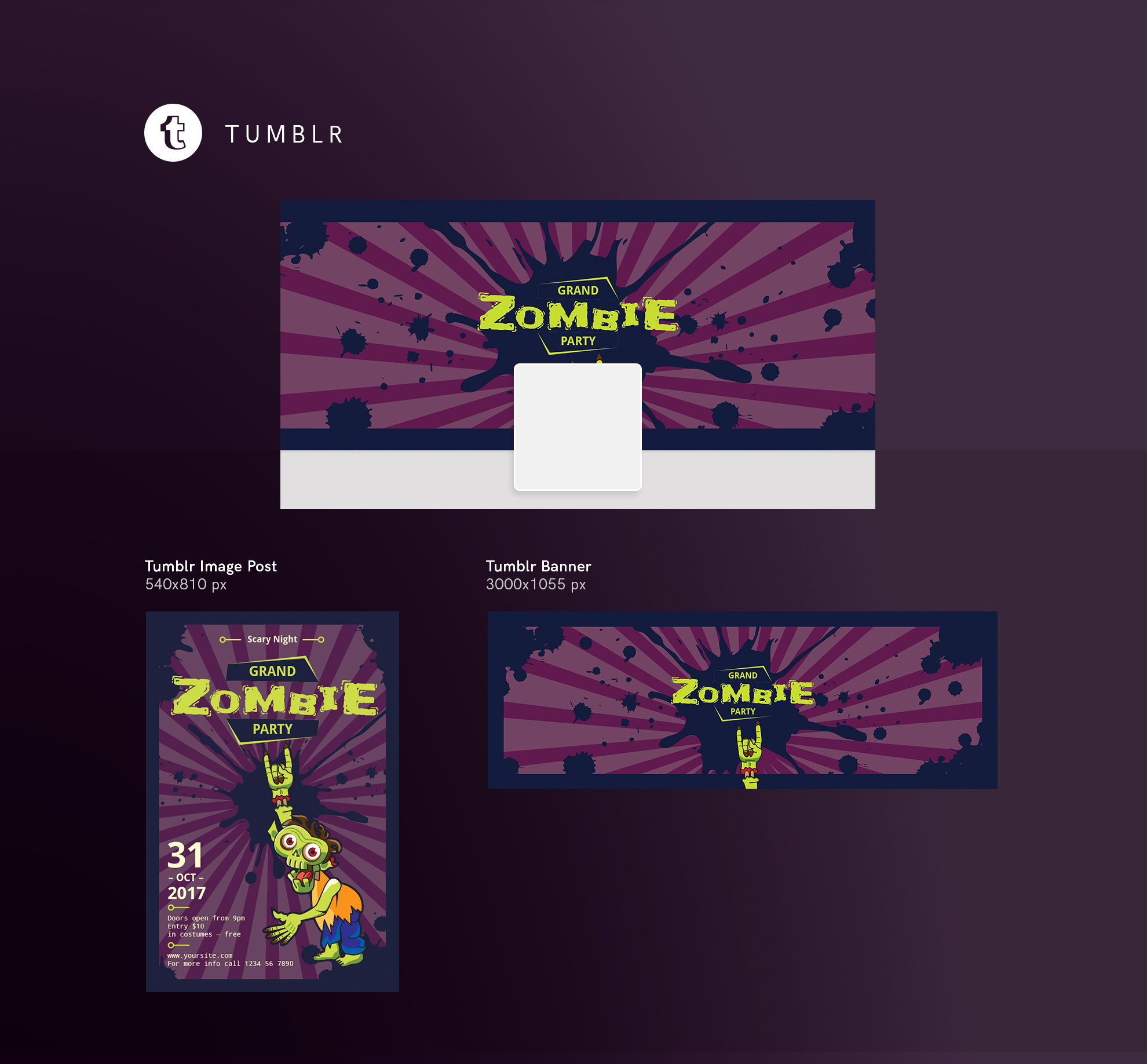 Zombie Party Design Templates Bundle example image 13