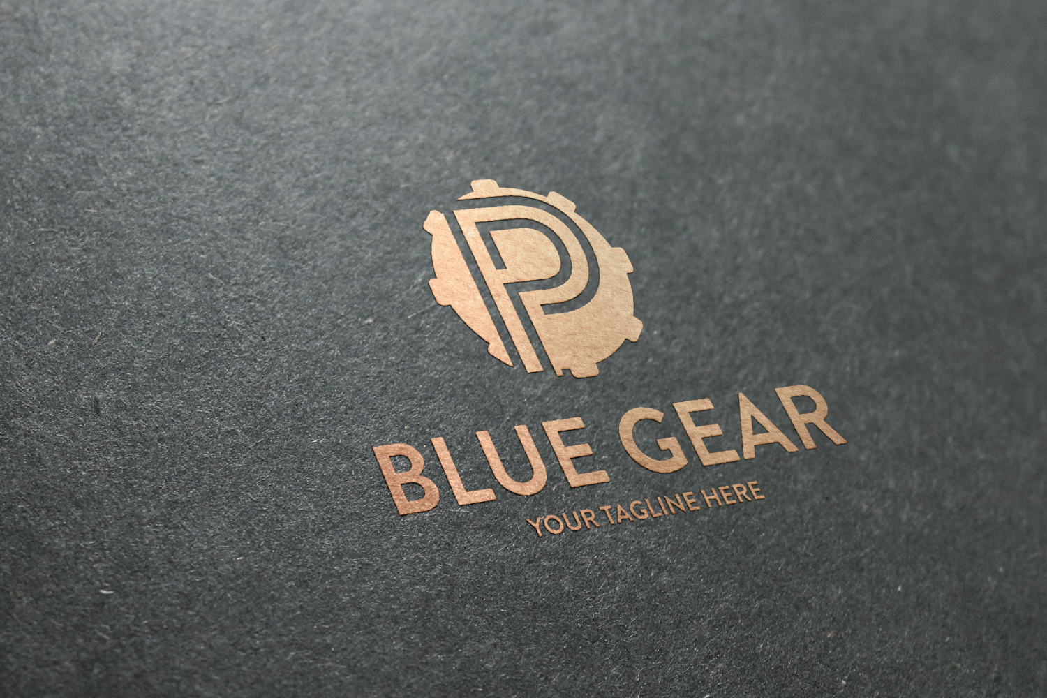 P letter Gear logo example image 2