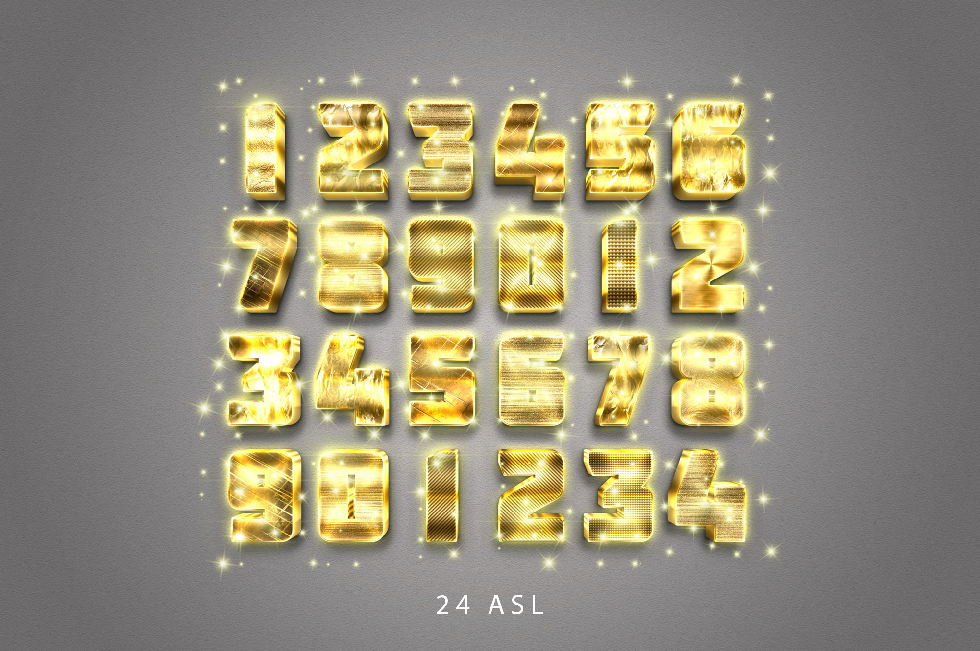 3D Gold Text Effect example image 3