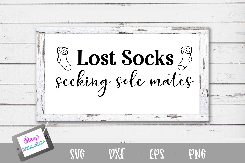 Laundry SVG - Lost socks seeking sole mates example image 2