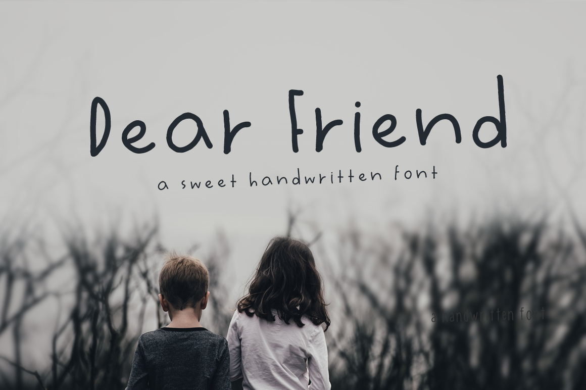 Dear Friend Hand Drawn Font example image 1