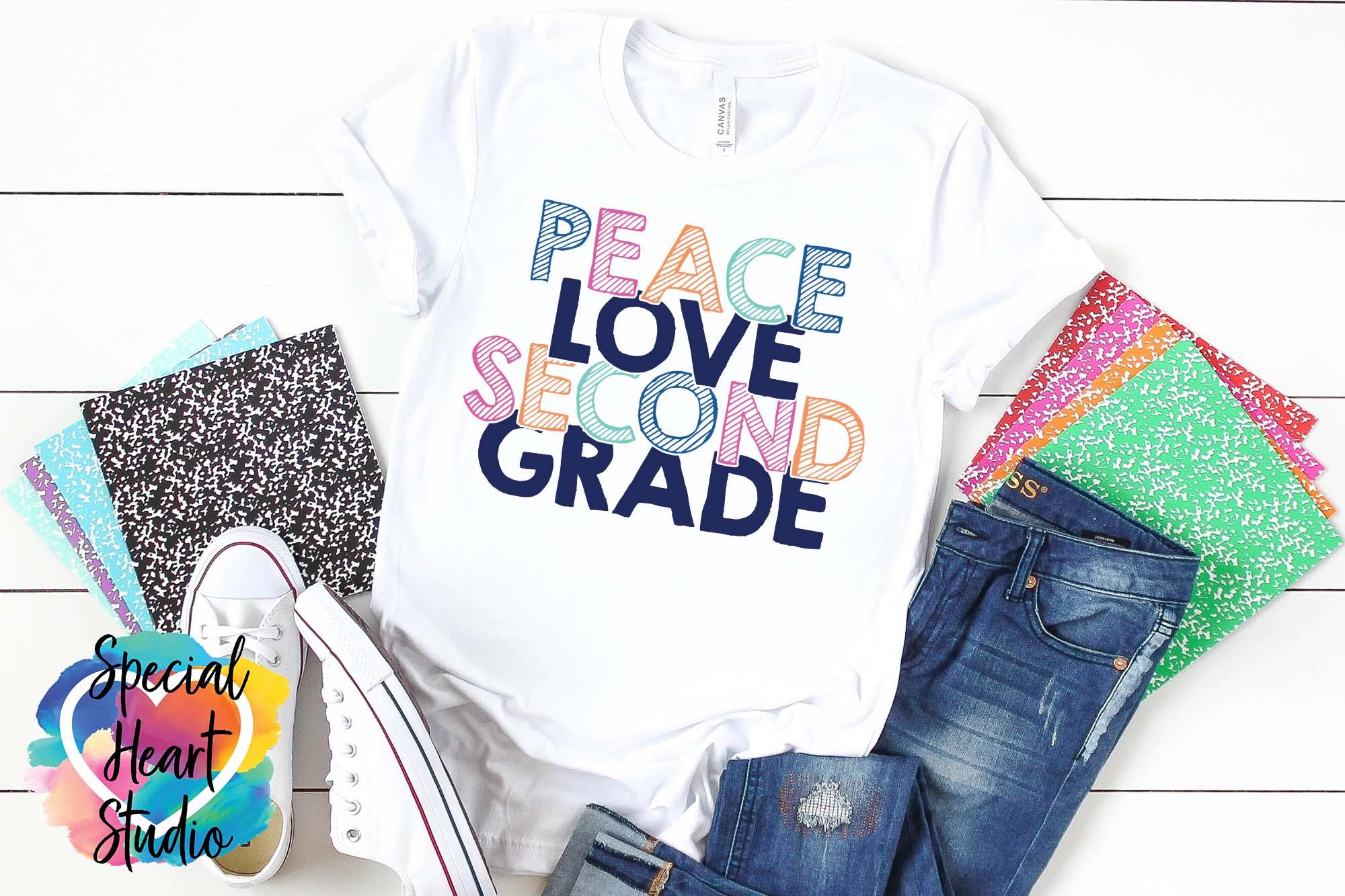 Peace Love Elementary - A School or Teacher SVG Bundle example image 5