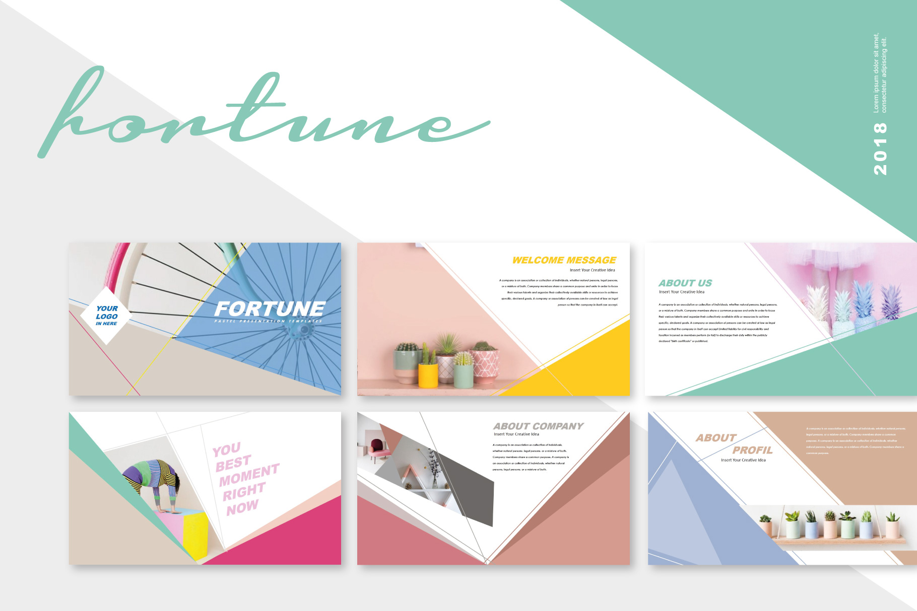 Fortune Creative Keynote Templates example image 1