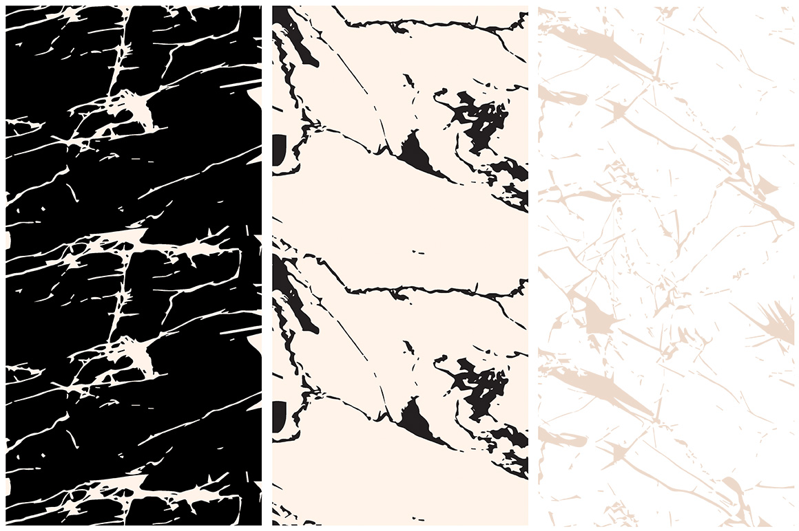Marble Seamless Vector Patterns - 1 example image 3