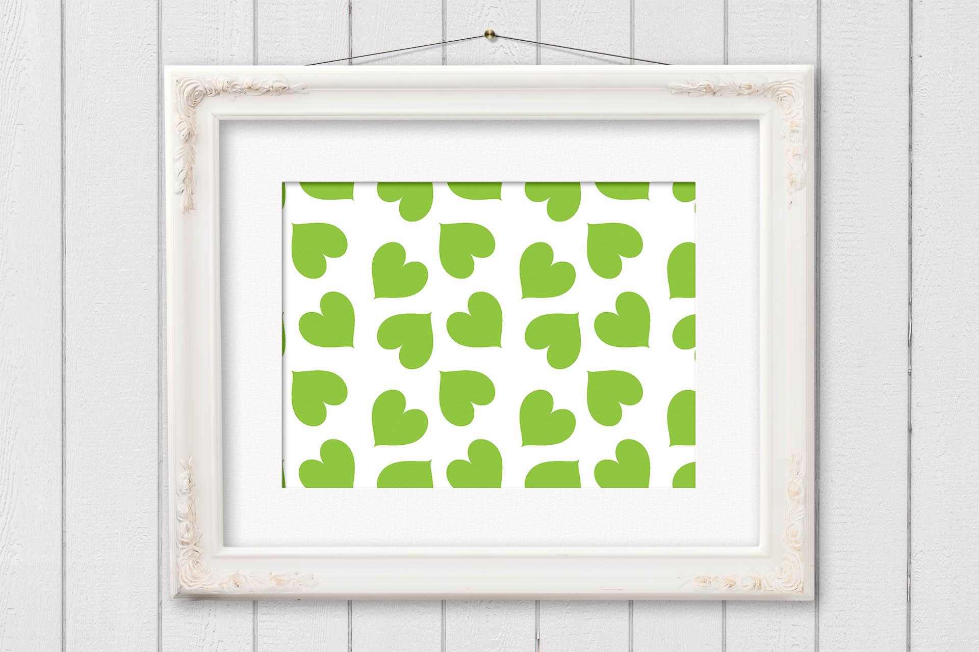 Rainbow Heart Digital Paper - Heart Patterns example image 3