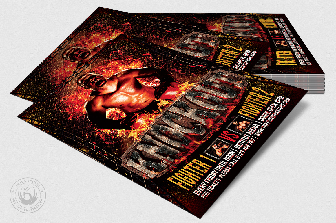 Fight Night Flyer Template V2 example image 4