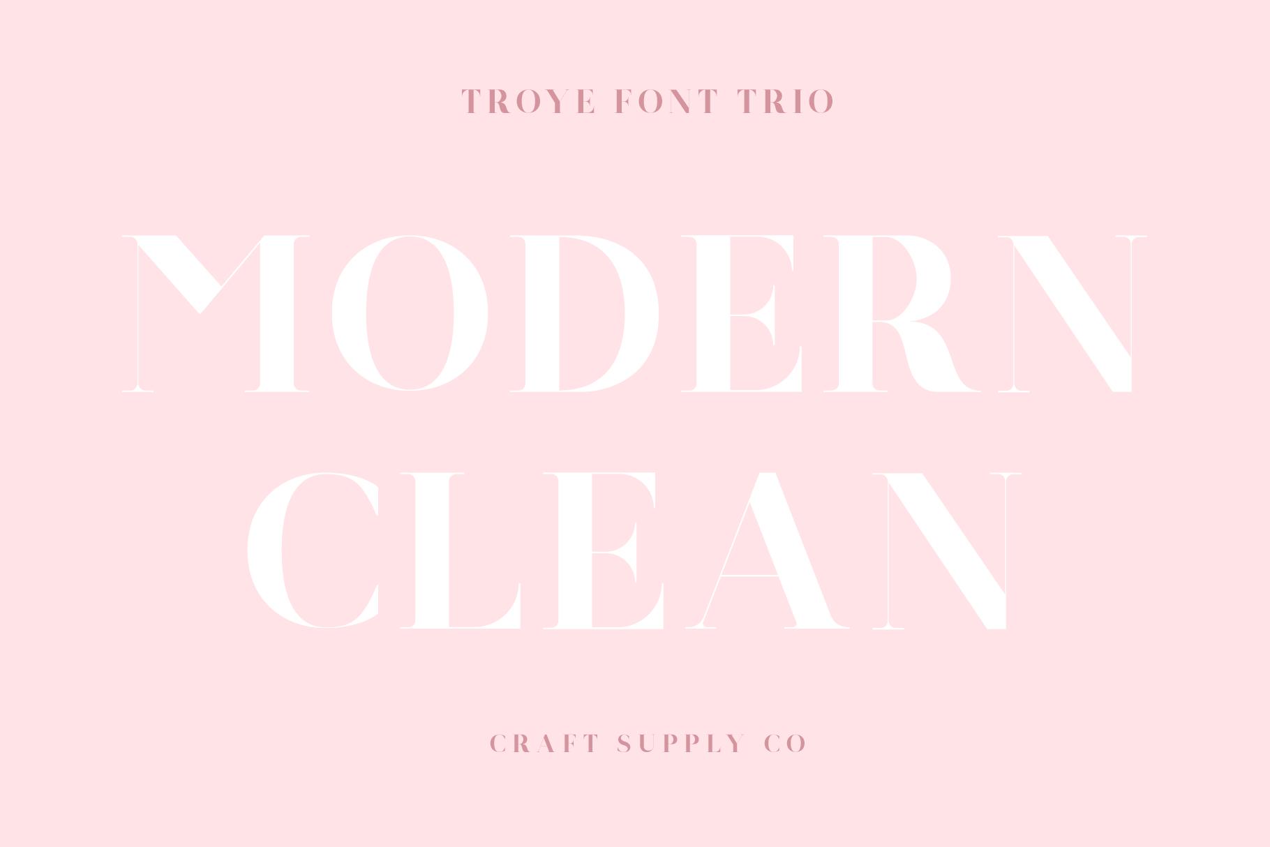 Troye Font Trio example image 18