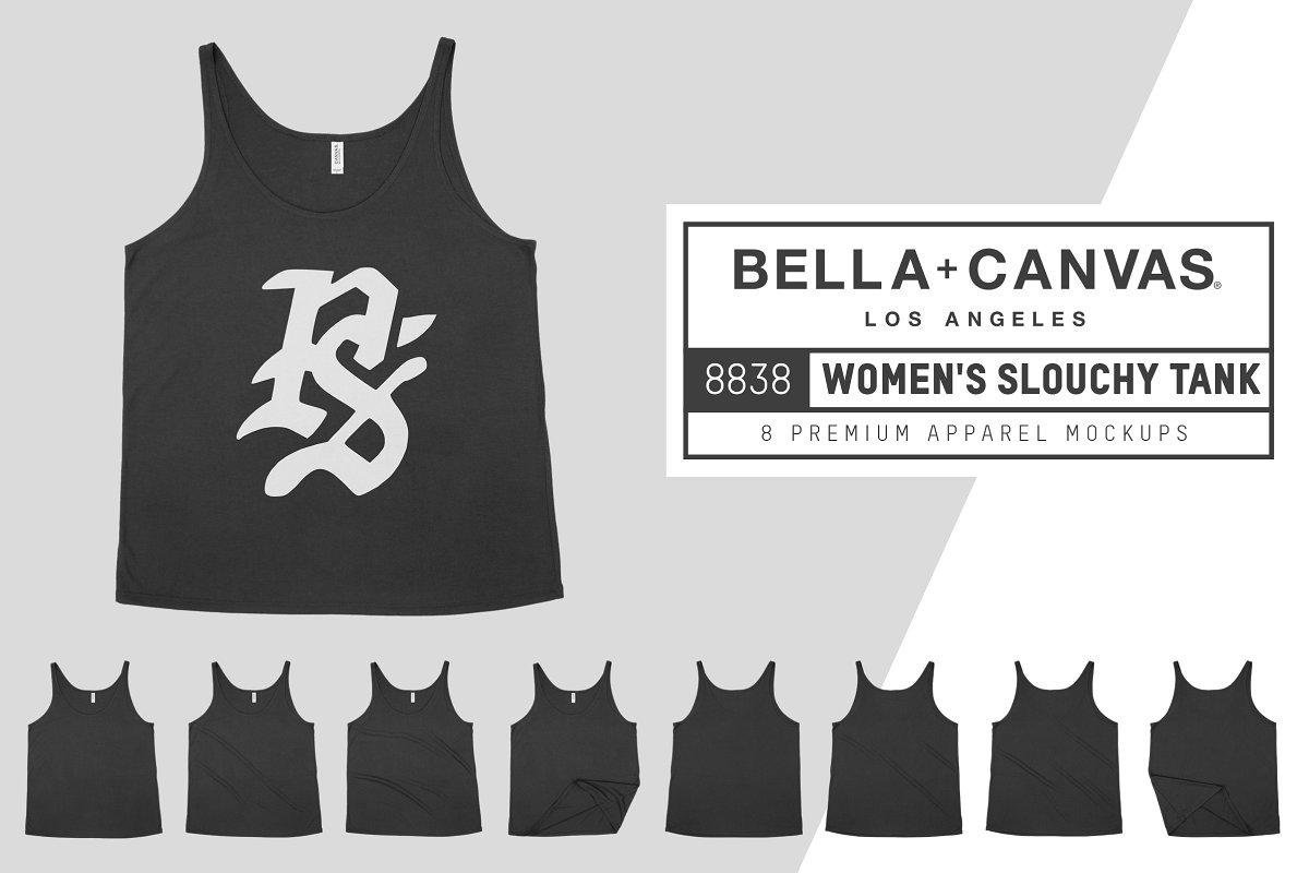 Bella Canvas 8838 Slouchy Tank Mocks example image 1