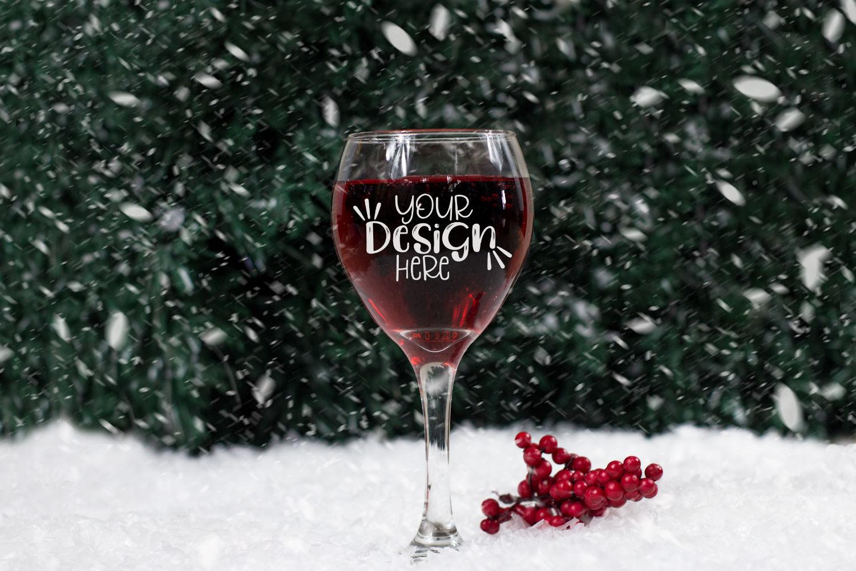 Winter Wine Mock Up Bundle example image 9