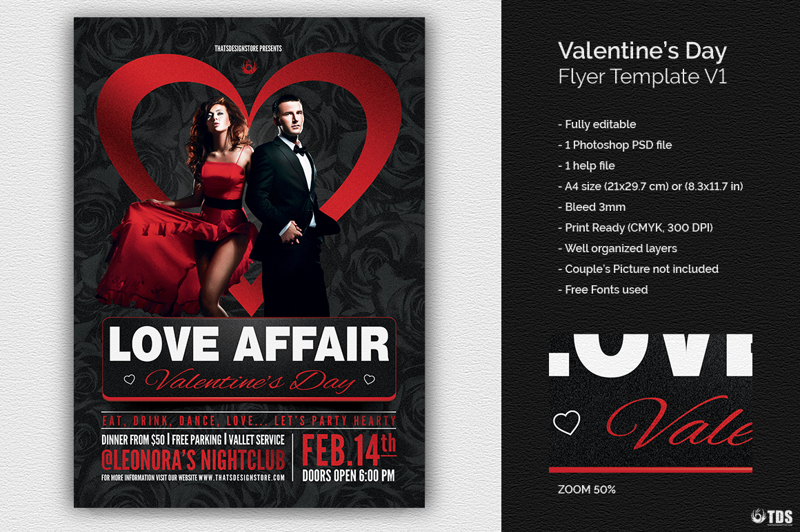 Valentines Day Flyer Template V1