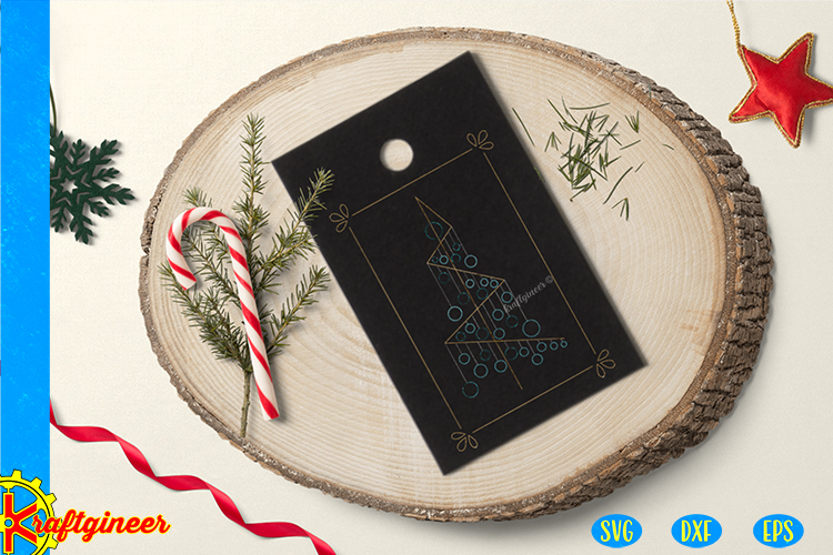 Single Line Xmas Tree SVG   Single Line SVG  Foil Quill example image 2