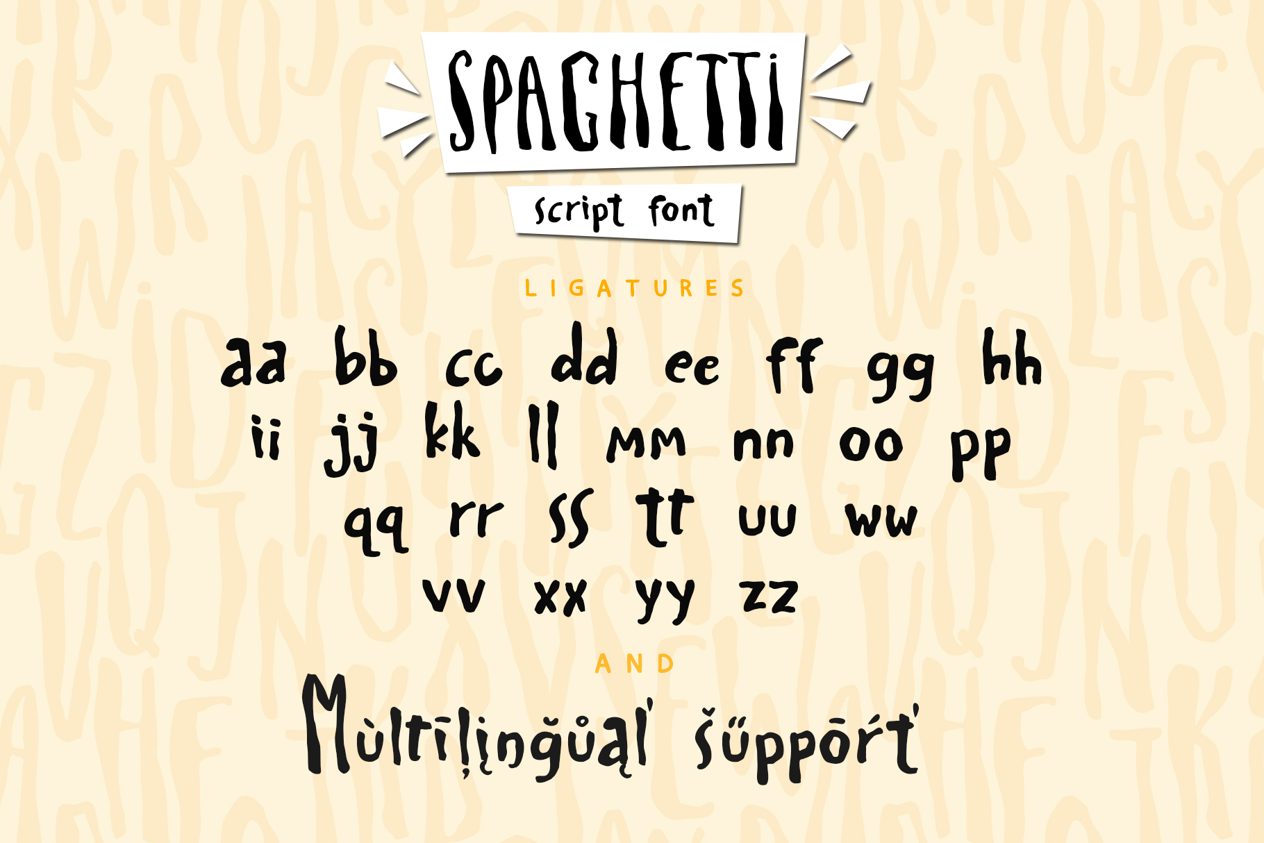 Spaghetti playful script font & Extras example image 11