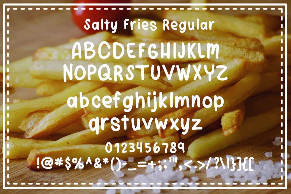 Salty Fries Font Trio example image 4
