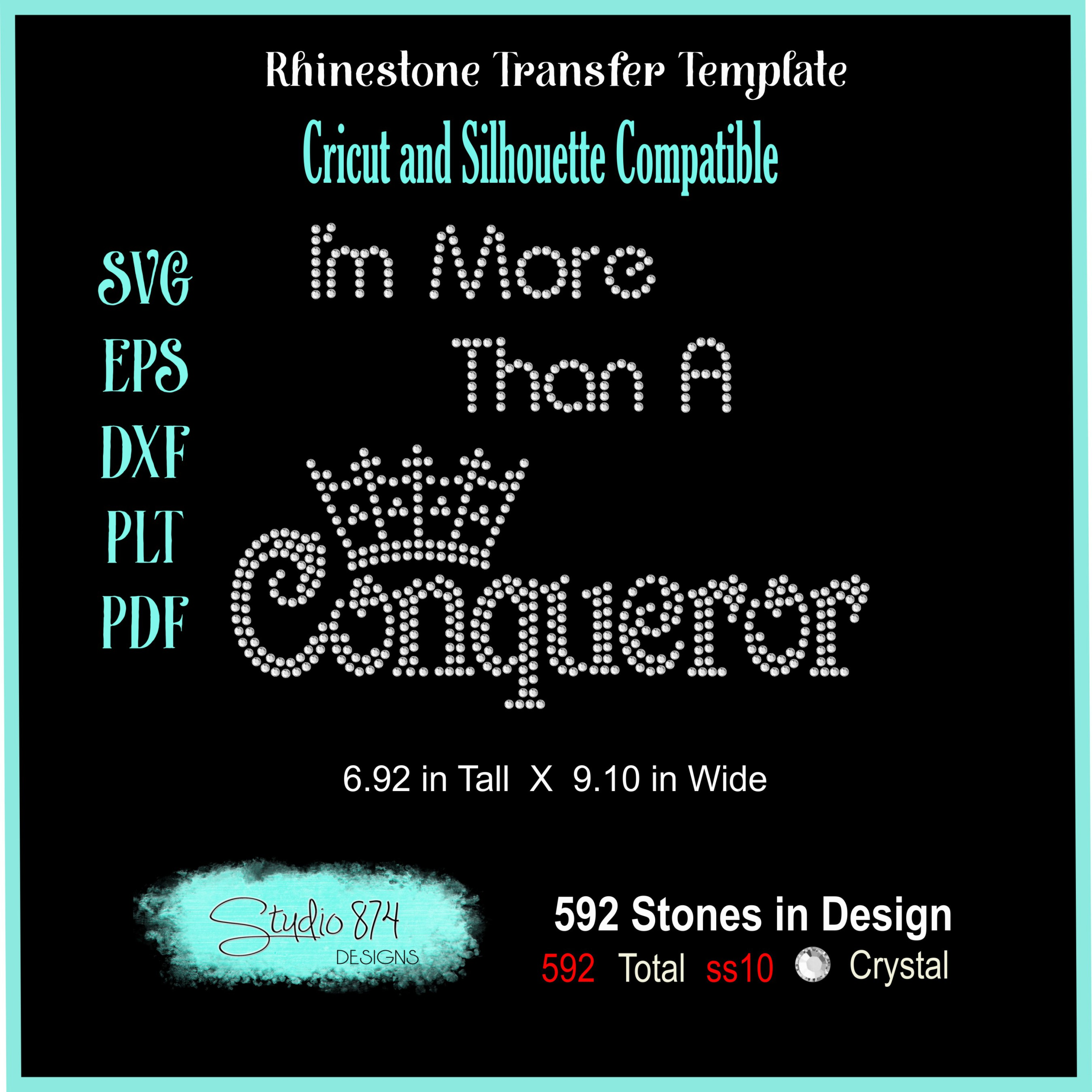 Faith Religious Rhinestone SVG Template - Conqueror example image 3