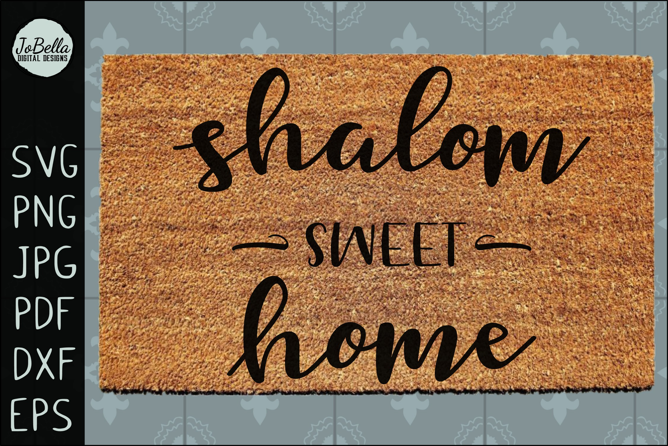 Shalom Sweet Home SVG, Printable and Sublimation PNG example image 2