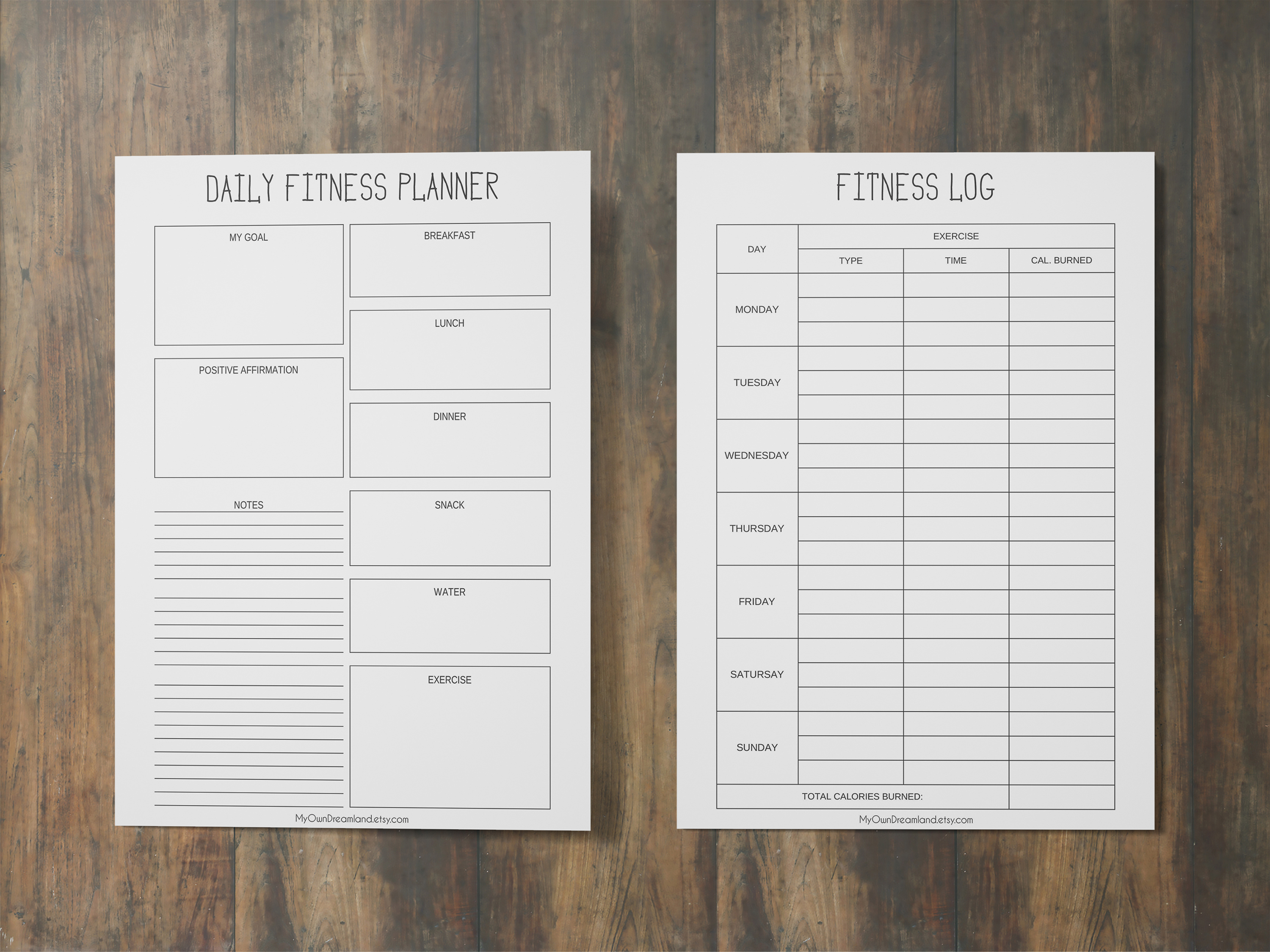 graphic about Printable Workout Planner named Physical fitness Planner Printable, Exercise Magazine, Exercise Planner
