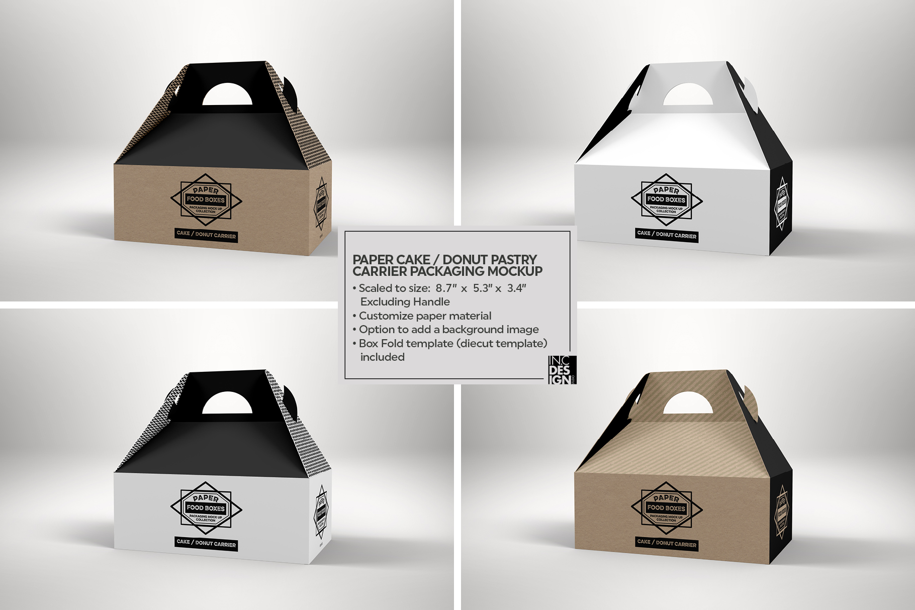 VOL.1 Food Box Packaging MockUps example image 21