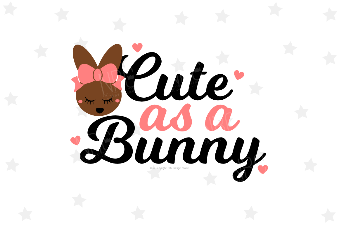 Cute as a Bunny SVG File example image 1