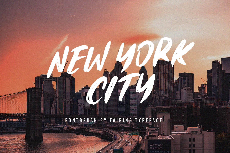 Fairing Brush Fonts example image 2