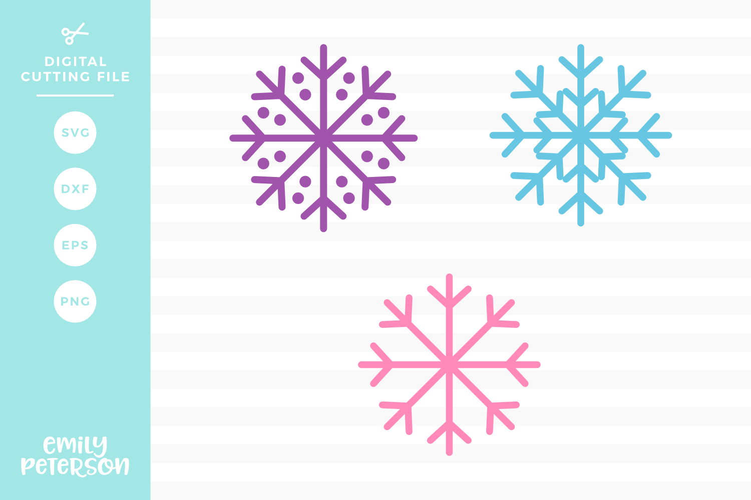 Snowflakes V1 SVG DXF EPS PNG example image 1
