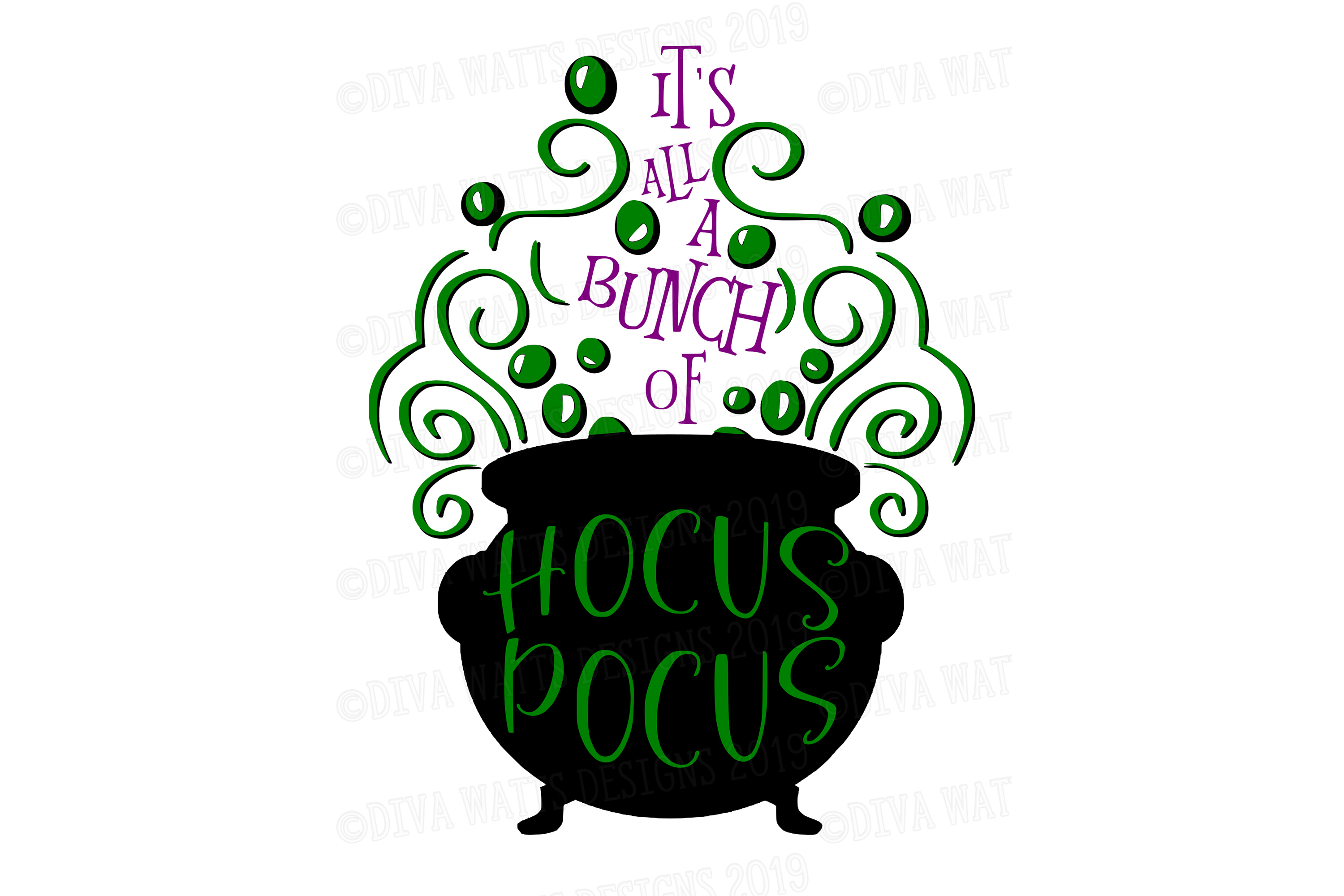 It's All A Bunch Of Hocus Pocus Halloween Cutting File example image 3