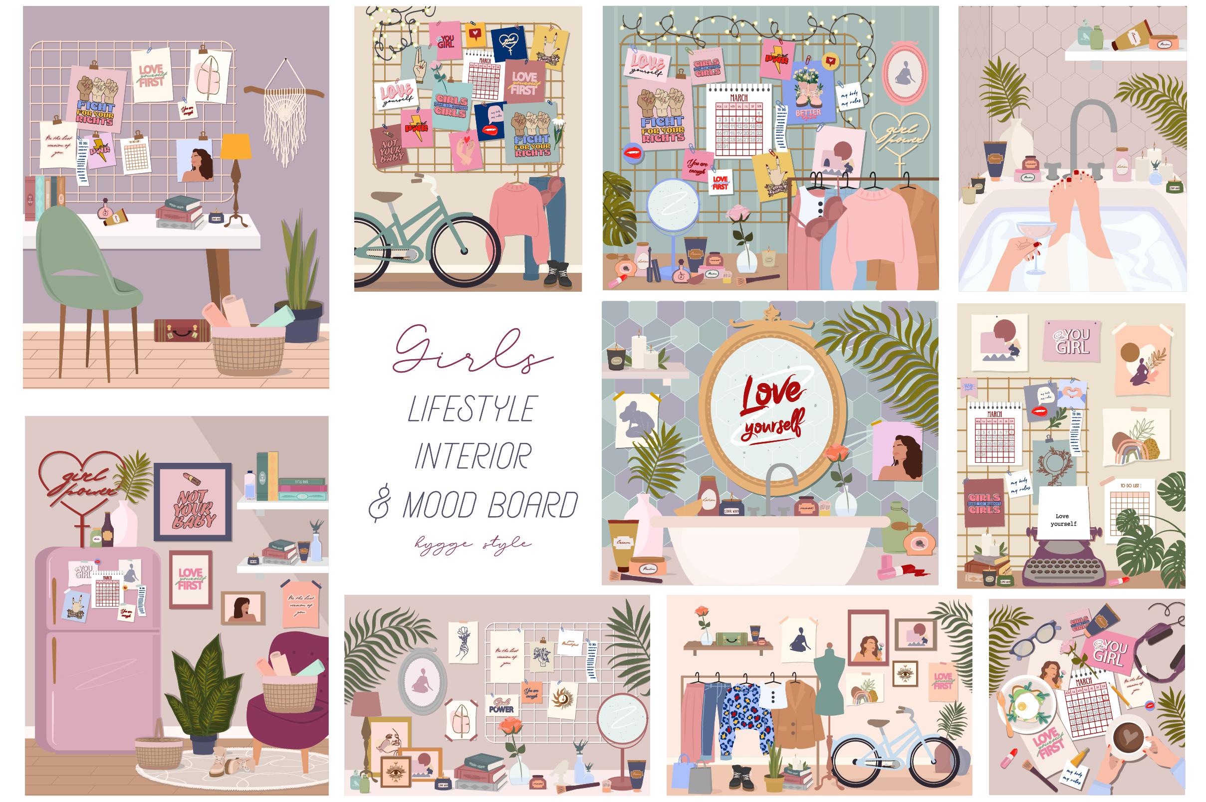 Lifestyle interior & mood board example image 10