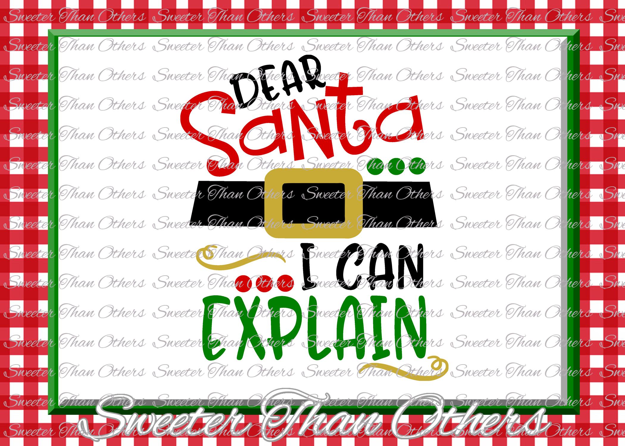 Santa I can Explain Svg Silhouette Christmas svg example image 1
