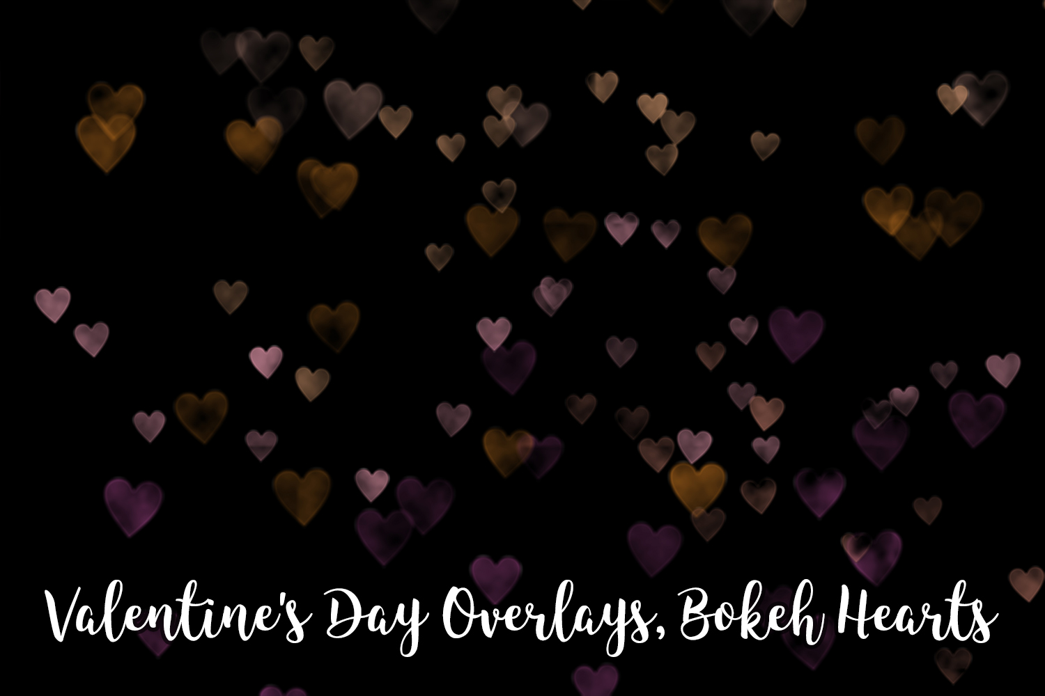 Valentine's Day Overlays, Bokeh Hearts Overlays example image 3
