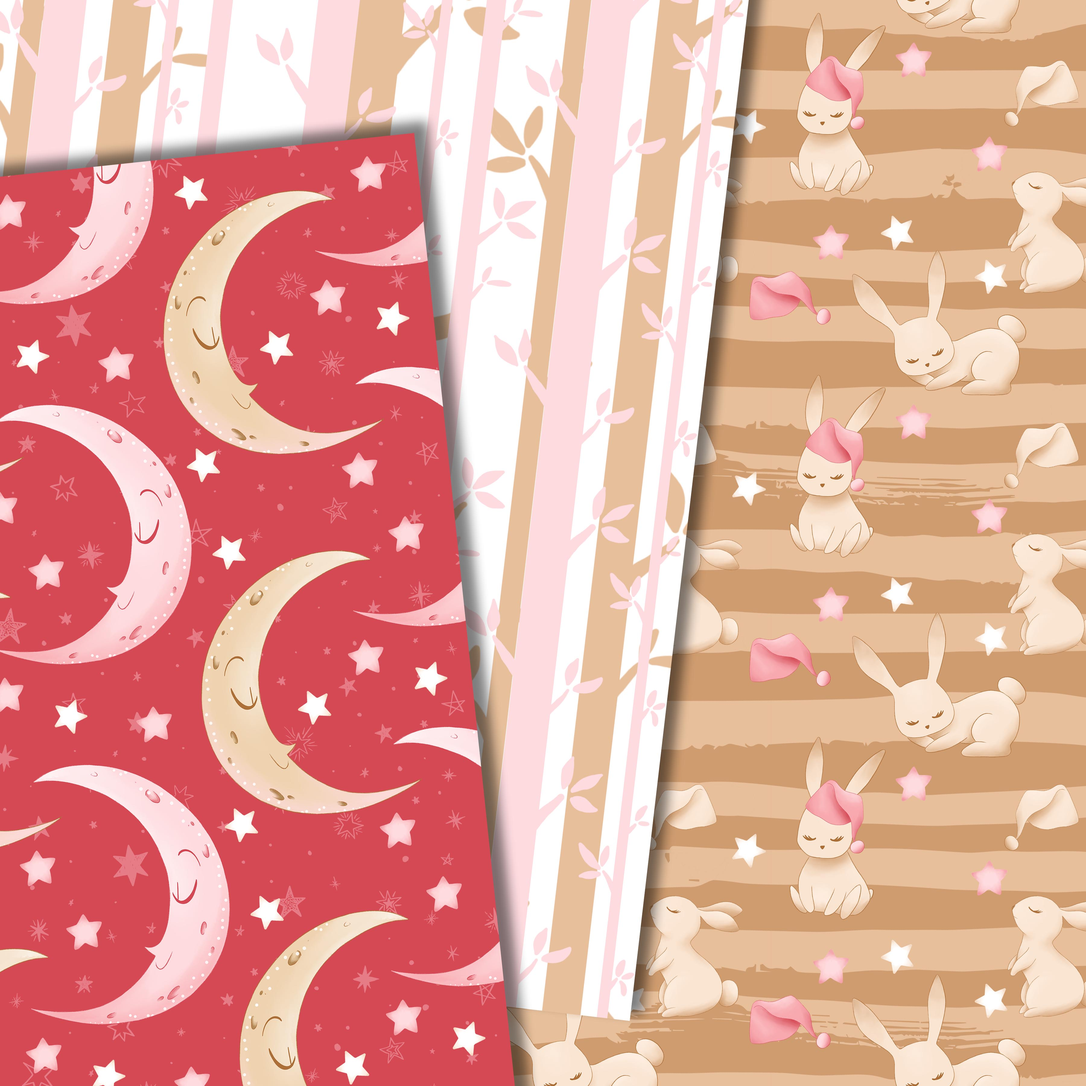 Good night bunny pattern in pink example image 2