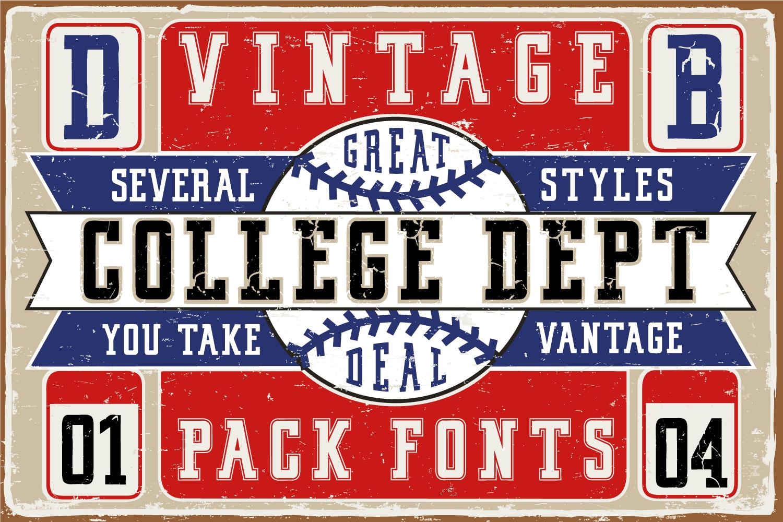 Vintage College Dept_Pack example image 2