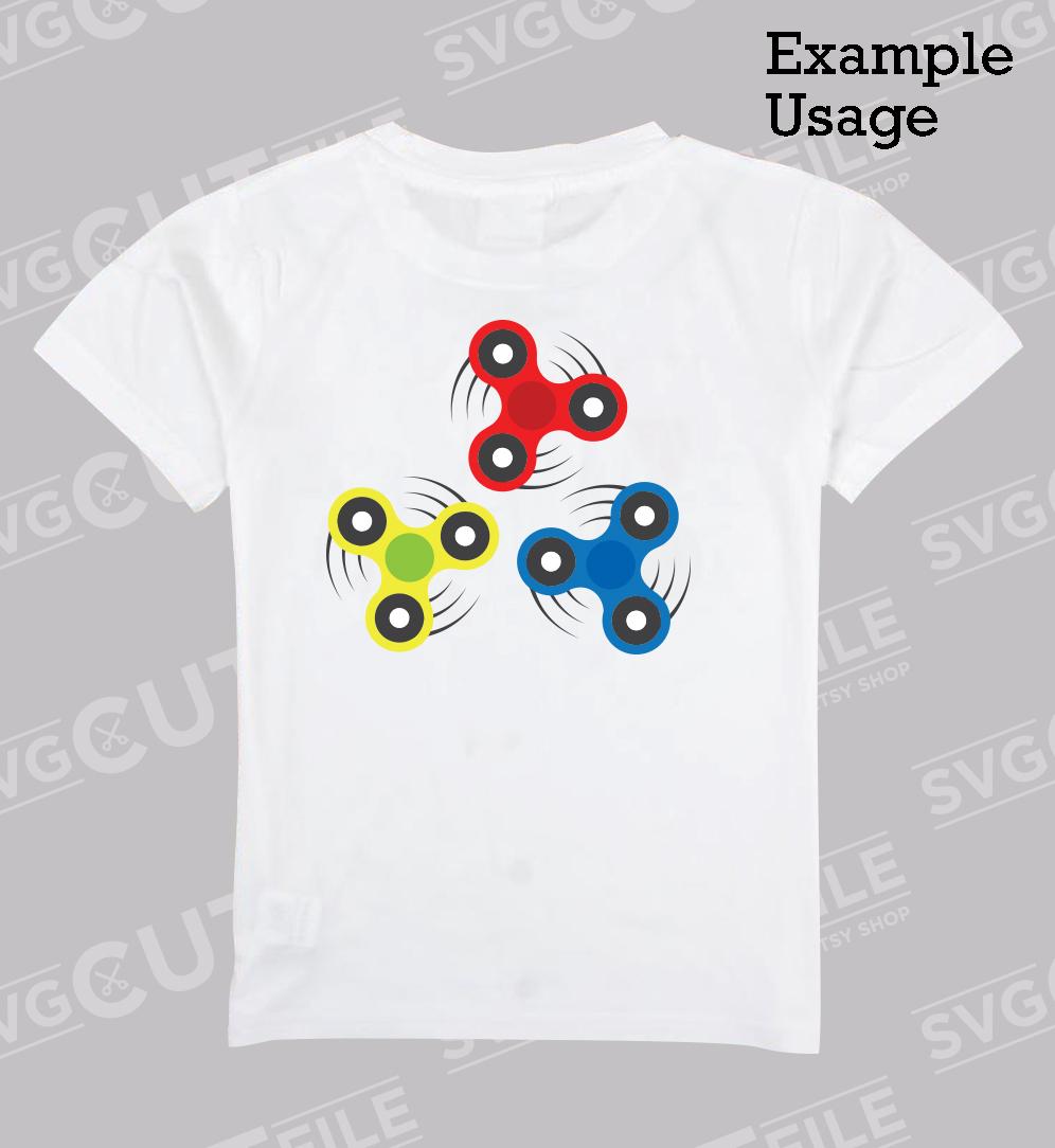 Fidget spinner svg bundle - Boy toy - Hand spin master example image 2